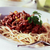 Spaghetti Bolognaise courtesy of MLC